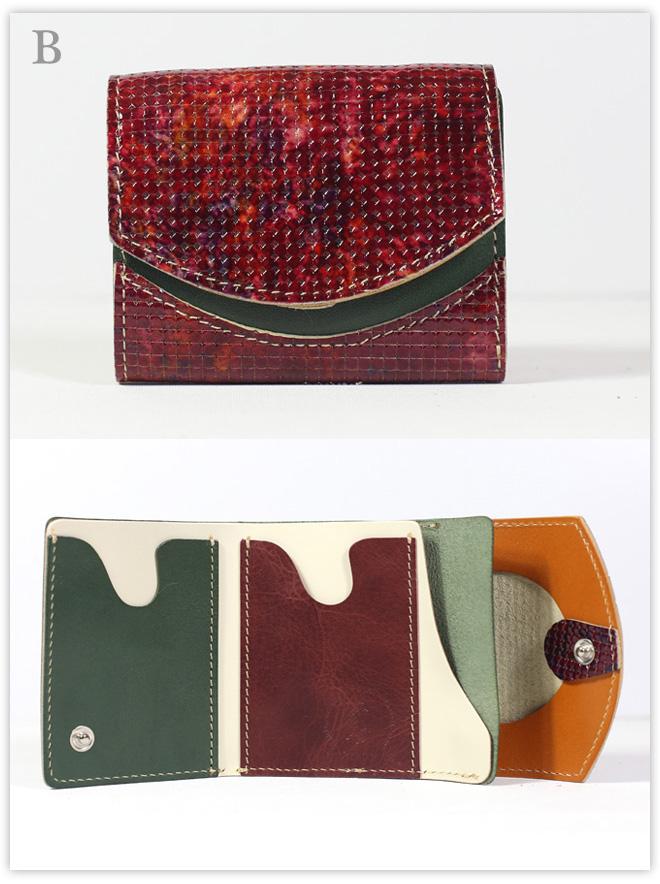小さい財布 ベンガラ:B