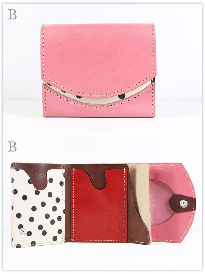 小さい財布 ピンクレイク:B