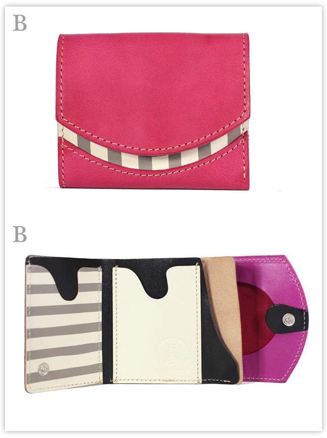 小さい財布 フューシャピンク:B