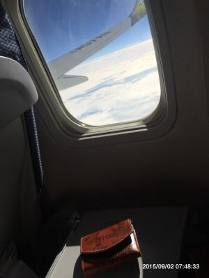 北海道への飛行機から