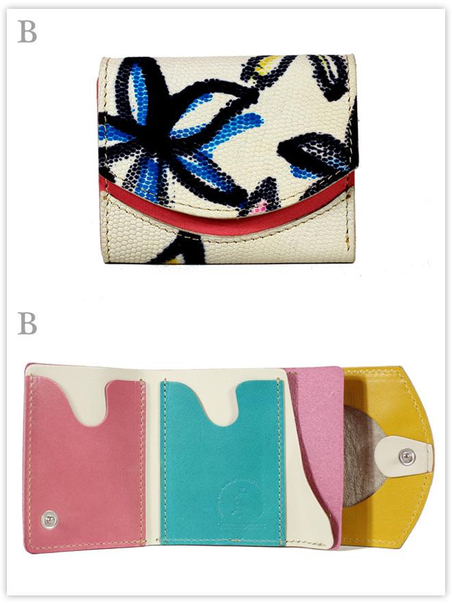 小さい財布 皮と革 夢のコラボ:B